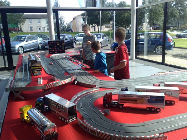 Giant Scalextric Hire For Private Parties Corporate